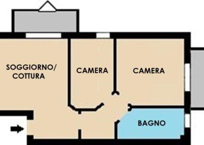 Appartamento bianco orizzontale